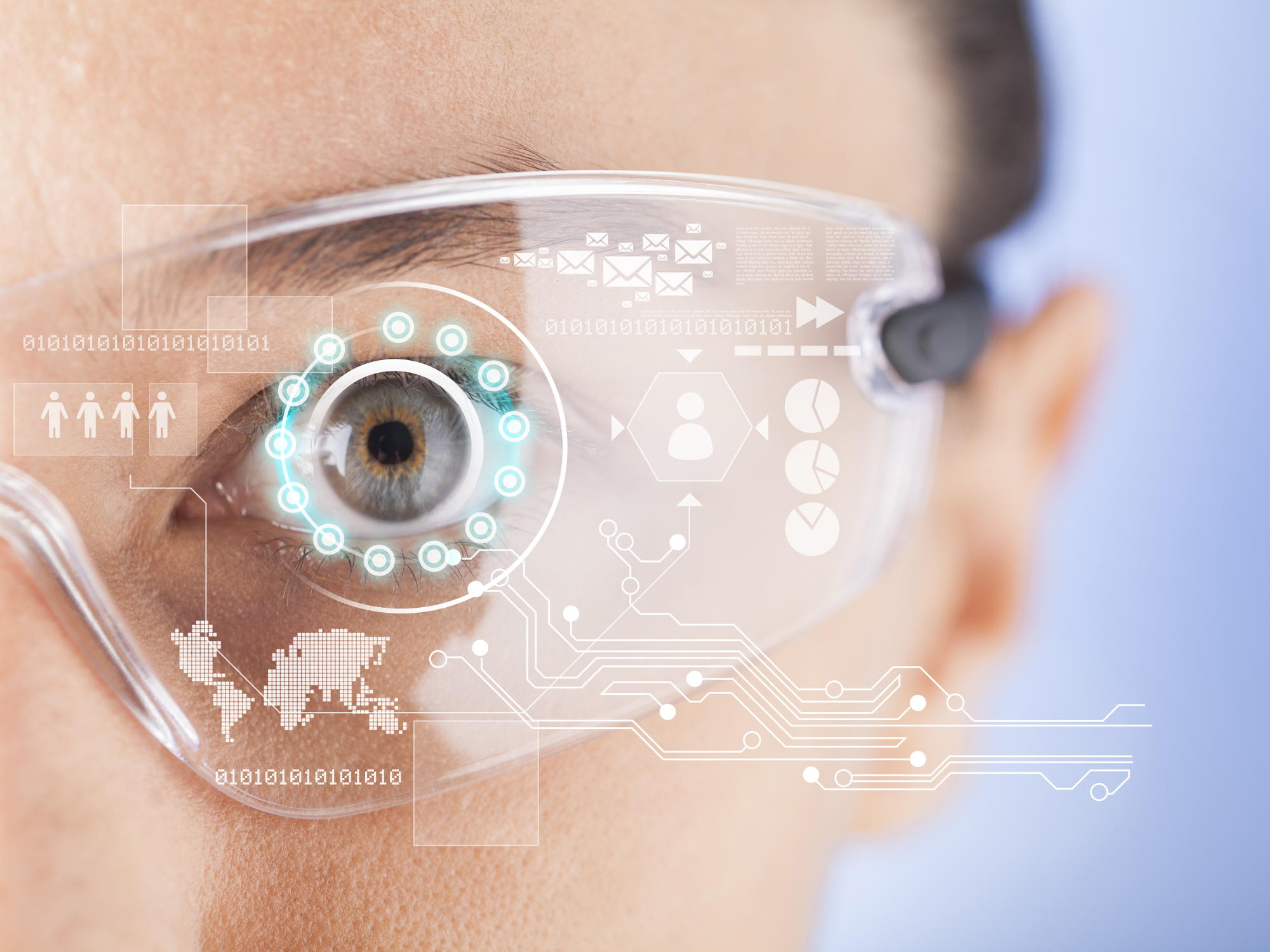 Futuristic smart glasses