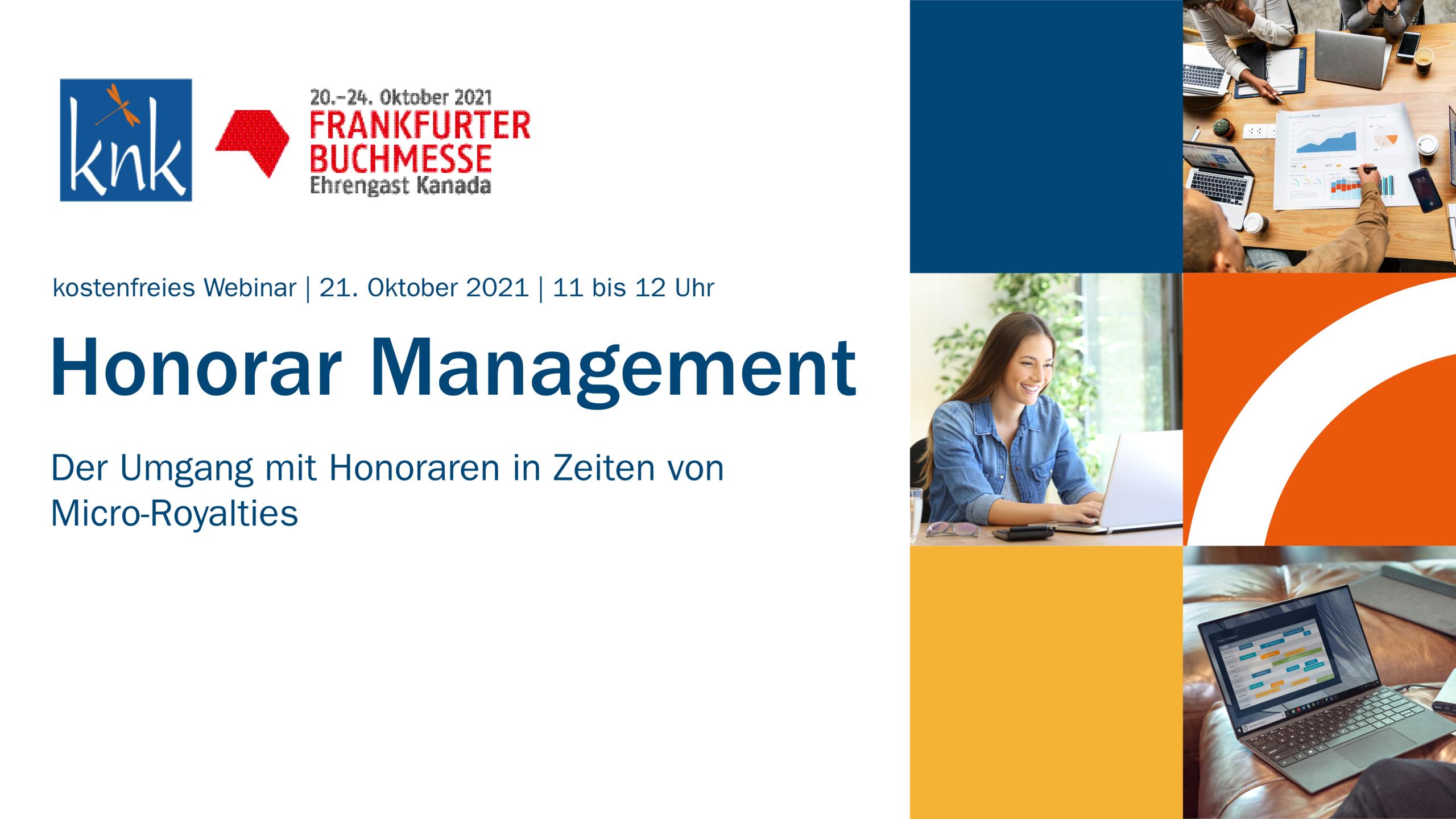 Honorar Management Webinar FBM21
